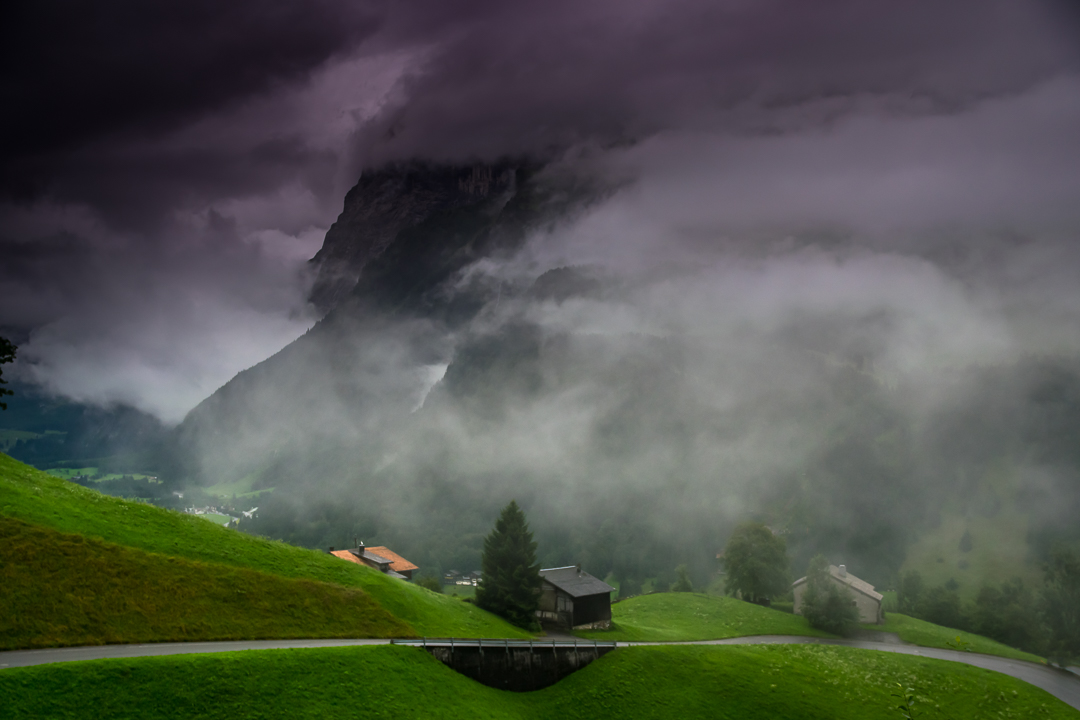 Atmospheric day in Engelberg - Photograph taken in Engelberg, on a day with a constantly changing weather situation.